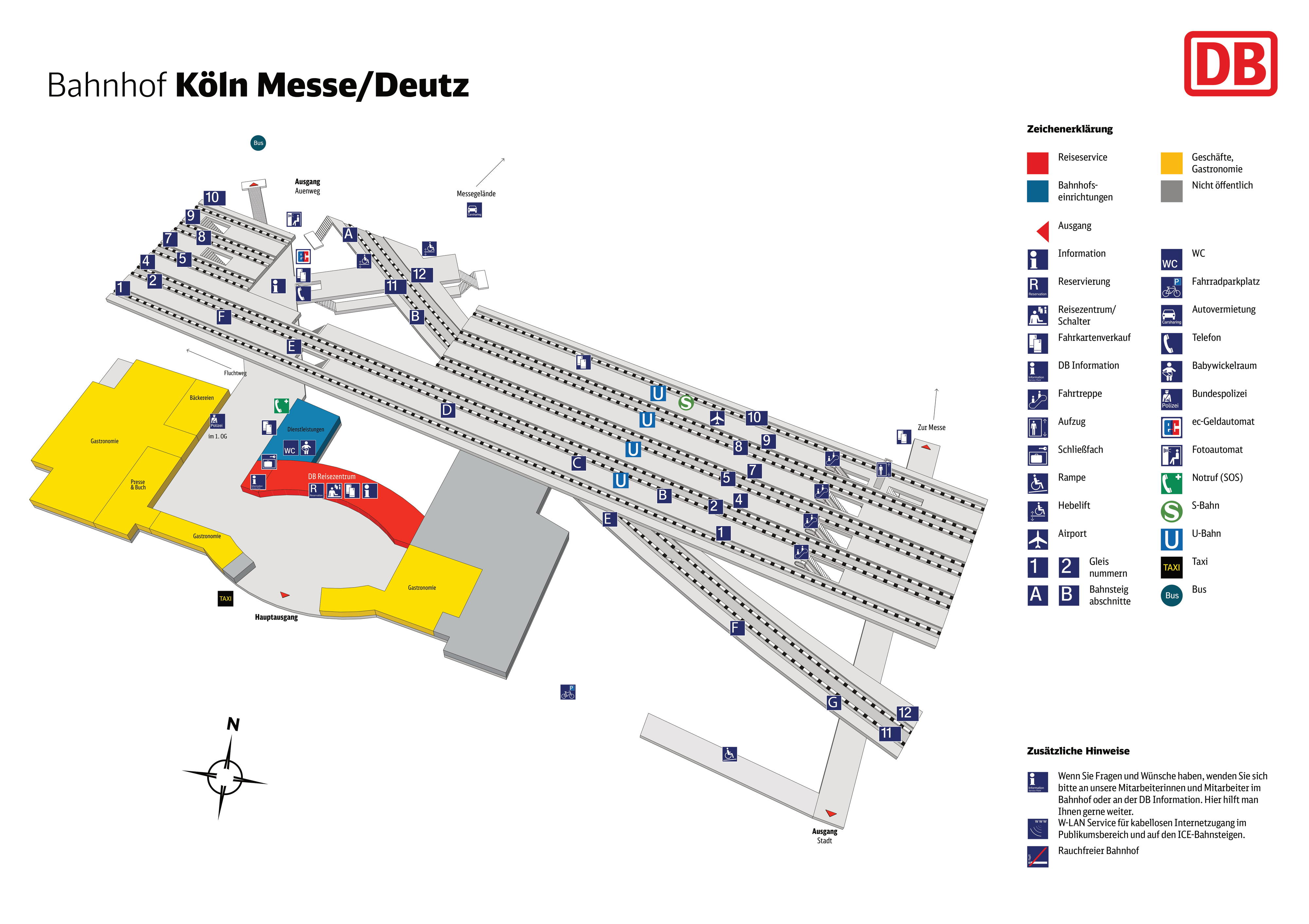 Map of Köln Messe Deutz